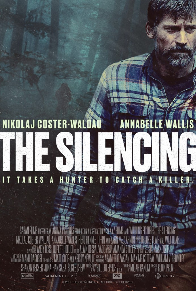 THE SILENCING. Nikolaj Coster-Waldau, Annabelle Wallis, Hero Fiennes-Tiffin. SXSW Midnighters and Nominated for Best Picture at Sitges, 2020.
